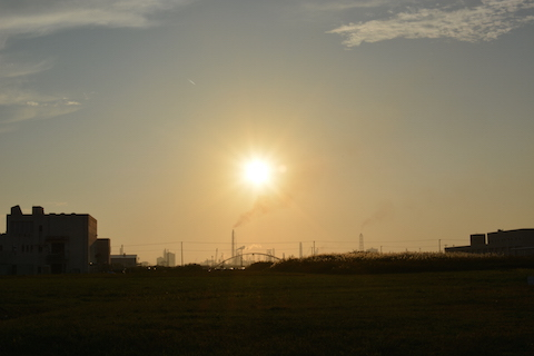 潮浜夕陽01