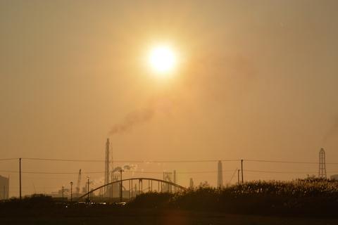 潮浜夕陽03