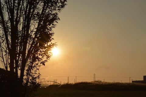潮浜夕陽05