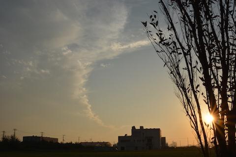 潮浜夕陽07
