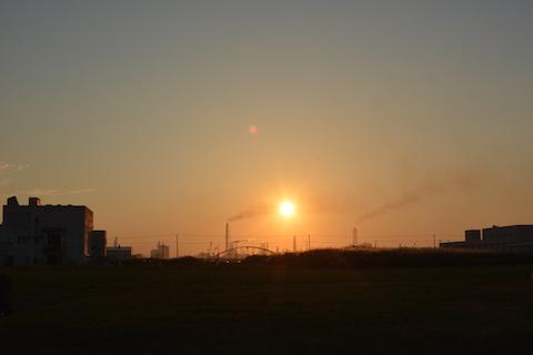潮浜夕陽08