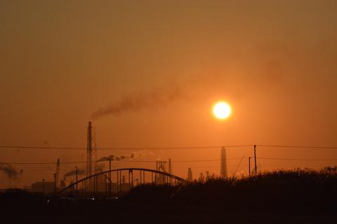 潮浜夕陽11