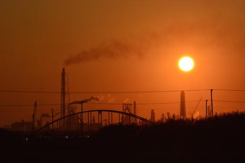 潮浜夕陽14