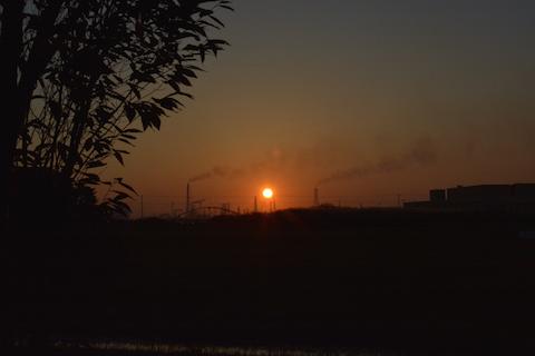 潮浜夕陽16