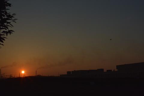 潮浜夕陽17