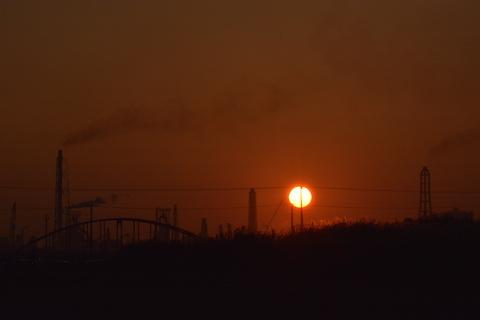 潮浜夕陽18