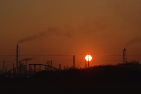 潮浜夕陽19