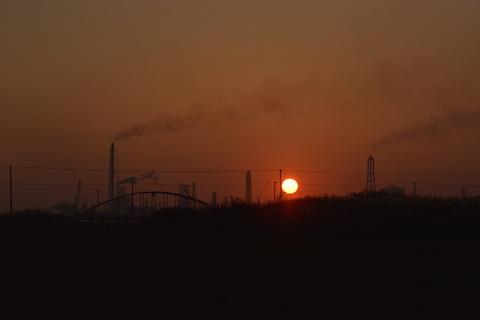 潮浜夕陽20