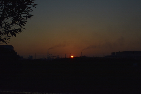 潮浜夕陽22