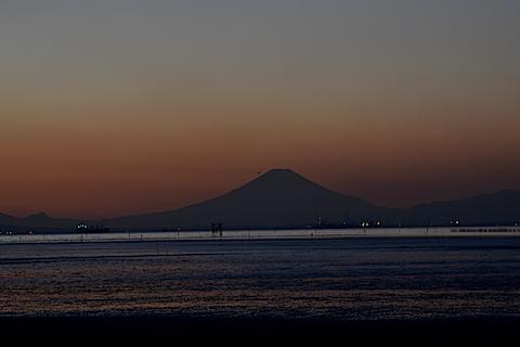 夕陽富士01