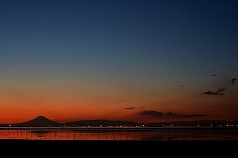 夕陽富士10