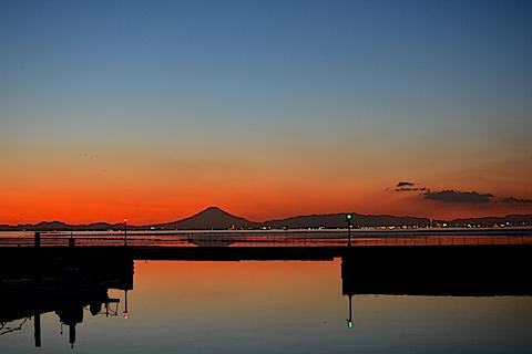 夕陽富士12