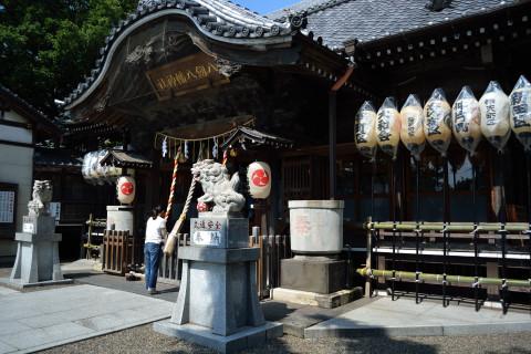 祭り前日の八剱八幡神社1