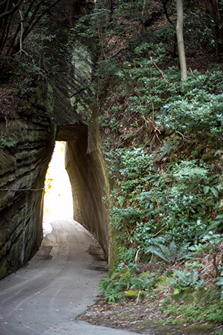 燈籠坂大師の切り通しトンネル34